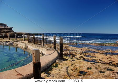 Ocean Pool In Rocky Shore