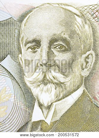 Gaspar Ortuno Y Ors portrait from Costa Rican money
