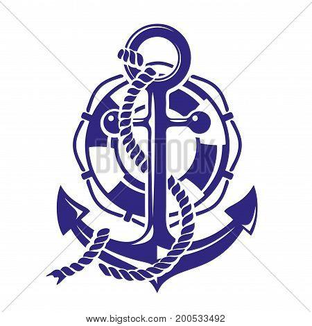 Anchor symbolt vector illustration isolated on white background
