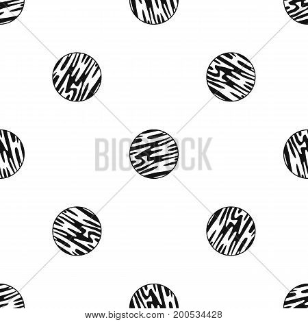Far away planet pattern repeat seamless in black color for any design. Vector geometric illustration