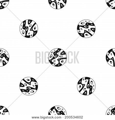 Moon pattern repeat seamless in black color for any design. Vector geometric illustration