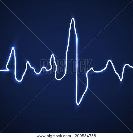 Abstract heart beats. Cardiogram background. Medicine. Vector