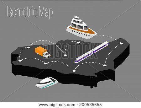 Map Saudi Arabia isometric concept. 3d flat illustration of Map Saudi Arabia.