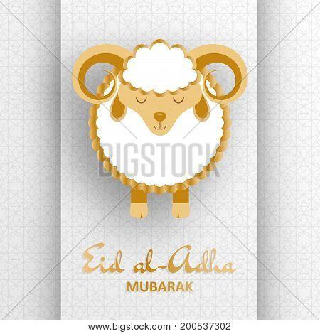 Eid Al Adha Background. Greeting card. Vector illustration