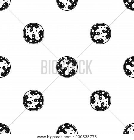 Mars pattern repeat seamless in black color for any design. Vector geometric illustration