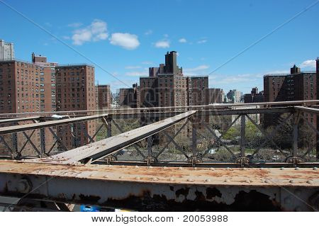 View of NYC from Brooklyn Bridge