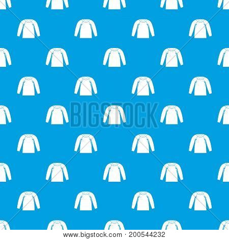 Sports jacket, pattern repeat seamless in blue color for any design. Vector geometric illustration