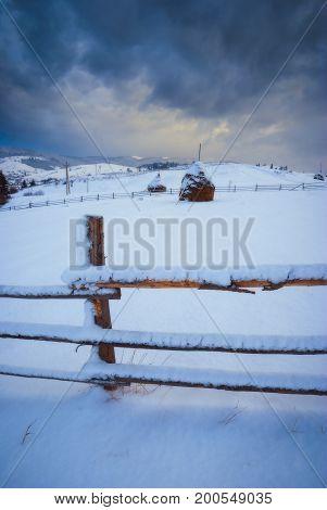 Carpathian Winter Valley