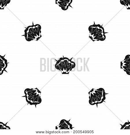 Projectile explosion pattern repeat seamless in black color for any design. Vector geometric illustration