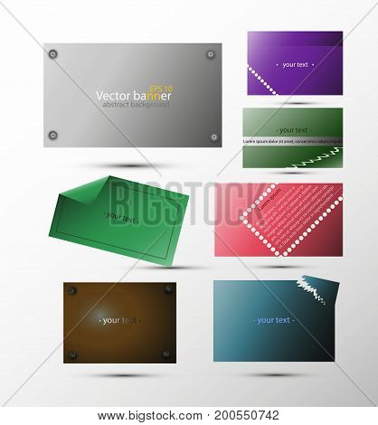 Set of vector abstract banners for background, advertisement, internet, design