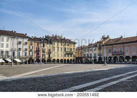 LODI, ITALY - JUNE 24, 2017: Lodi (Lombardy Italy): the historic cathedral square (piazza del Duomo)
