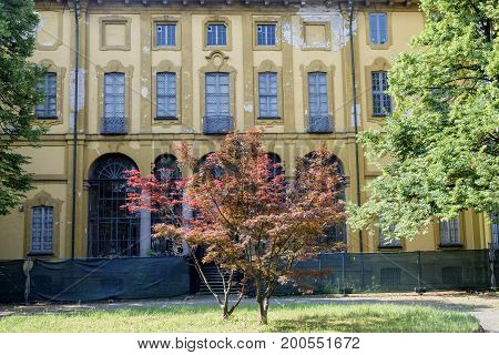 Cernusco sul Naviglio (Milan Lombardy Italy): exterior of the historic Villa Alari built in the 18th century with garden