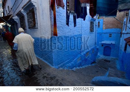 Chefchaouen, The Blue City In The Morocco.