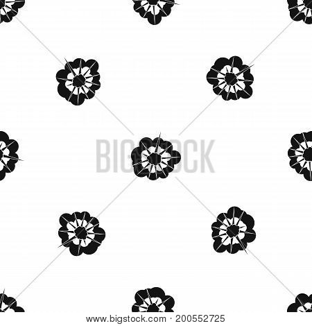 Cloudy explosion pattern repeat seamless in black color for any design. Vector geometric illustration