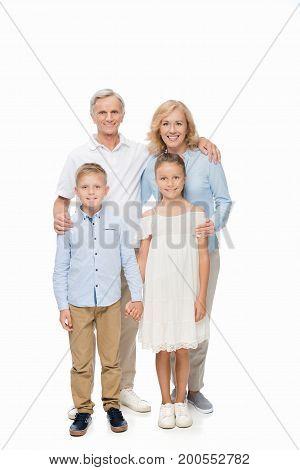 Happy Grandparents And Grandchildren