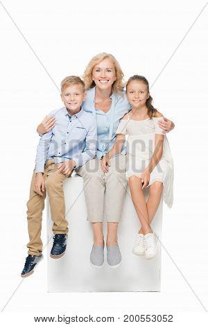 Woman And Grandchildren