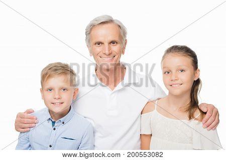 Senior Man And Grandchildren
