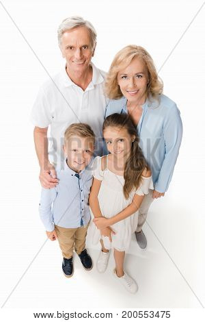 Happy Grandparents With Grandchildren