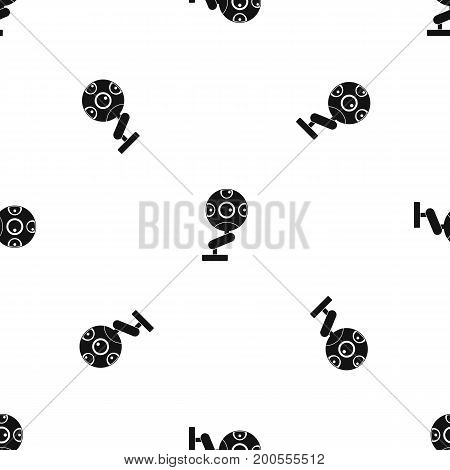 Game device pattern repeat seamless in black color for any design. Vector geometric illustration