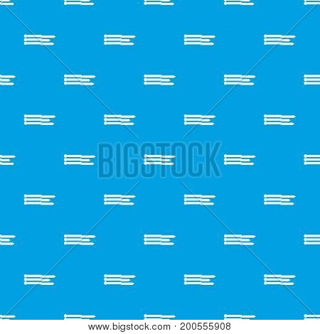 Infographic arrows pattern repeat seamless in blue color for any design. Vector geometric illustration