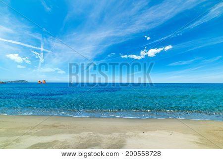 Springtime in Cea beach in Sardinia Italy