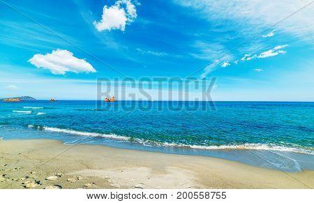 Cea beach in the springtime. Sardinia italy