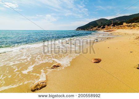 Porto Sa Ruxi shoreline Villasimius. Sardinia Italy