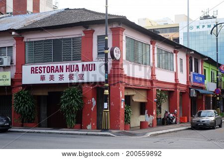 Local Typical Street View In Johor Bahru Of Malaysia