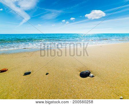 Rocks in Perdepera shoreline in Sardinia Italy