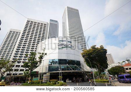 Raffles City In Singapore