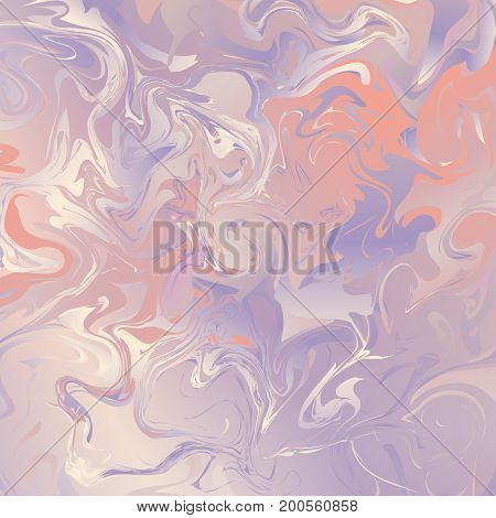 Watercolor pastel background with a marble vintage texture in pink tones.