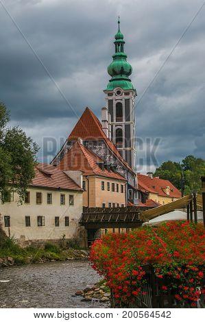 Saint Vitus church on the river Vltava