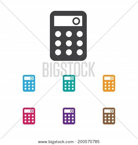 Vector Illustration Of Banking Symbol On Calculate Icon