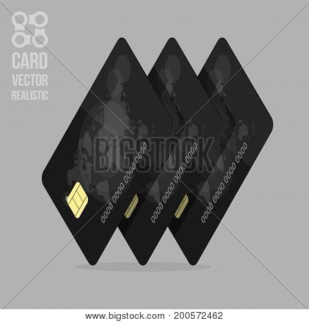 Realistic detailed credit cards for modern websites and mobile app. Template web banner for the Bank.