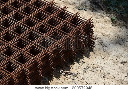 Armature reinforcing steel for concrete. Construct armature