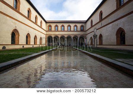 Sforzesco Castle Duke Courtyard