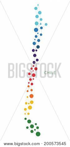 dotted texture Chile vector rainbow colorful background