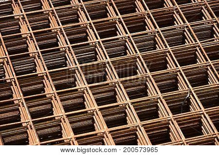 Armature reinforcing steel for concrete. Construction metal