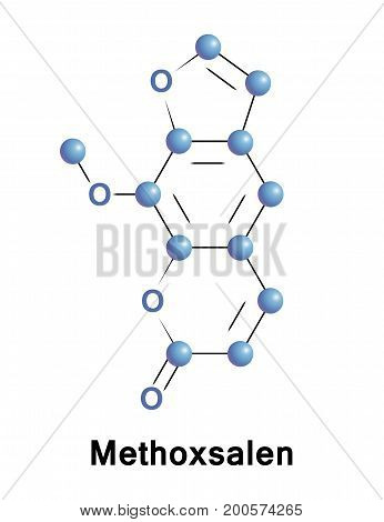 Methoxsalen is a drug used to treat psoriasis eczema vitiligo and some cutaneous lymphomas in conjunction with exposing the skin to UVA light from lamps or sunlight