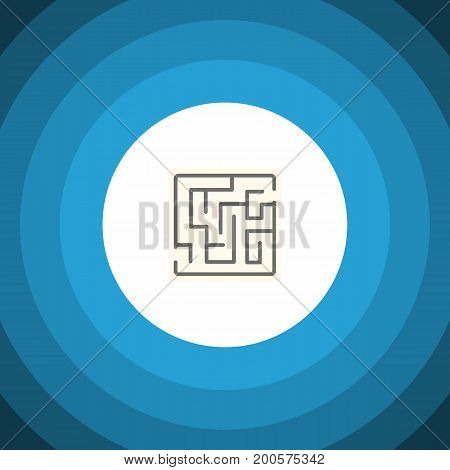 Labyrinth Vector Element Can Be Used For Labyrinth, Maze, Lost Design Concept.  Isolated Maze Flat Icon.