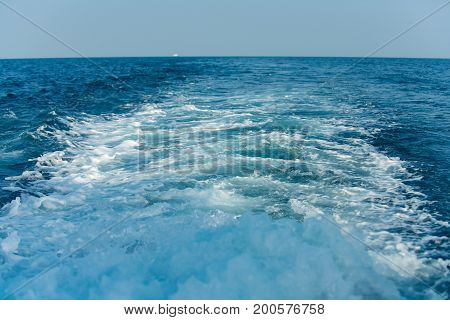 Sea or ocean blue water. Seascape natural water wallpaper. Abstract marine background.Travel vacation and sea voyage concept.