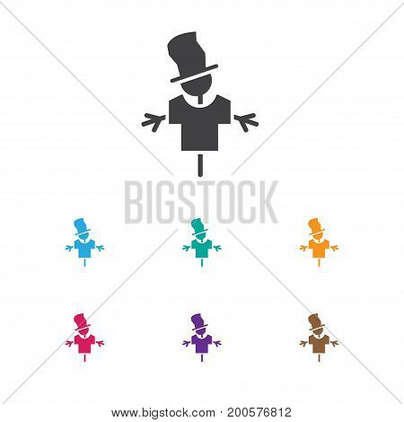 Vector Illustration Of Agriculture Symbol On Scarecrow Icon