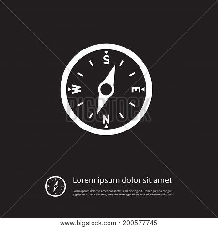 Direction Vector Element Can Be Used For Compass, Direction, Arrow Design Concept.  Isolated Compass Icon.
