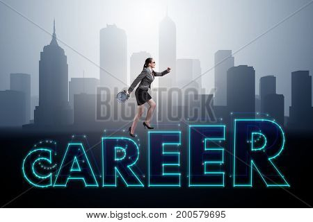 Businesswoman in global employment concept