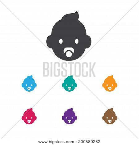 Vector Illustration Of Family Symbol On Infant Icon