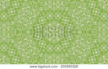 Vintage swirl greenery seamless pattern background. decoration,