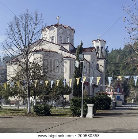 The famous Christian church of John the Russian (Evia island, Greece)