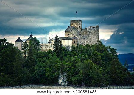 Old castle in the mountians. Castle in Niedzica Poland.