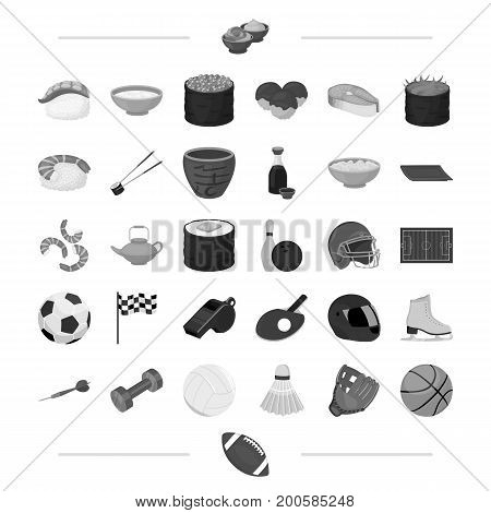 tourism, cafeteria, cooking and other  icon in black style. sports, competitions, restaurant, icons in set collection.