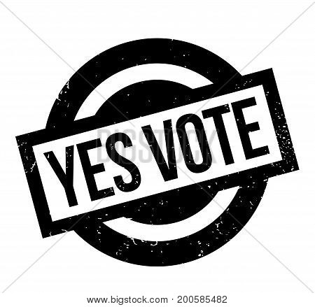 Yes Vote rubber stamp. Grunge design with dust scratches. Effects can be easily removed for a clean, crisp look. Color is easily changed.